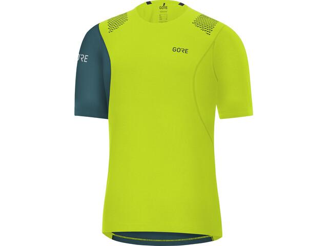 GORE WEAR R7 T-shirt Homme, citrus green/dark nordic blue